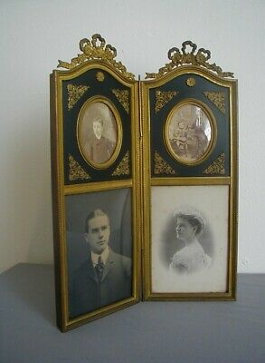 Gorgeous & Unusual Double Sided French Gilded & Patinated Bronze Frame