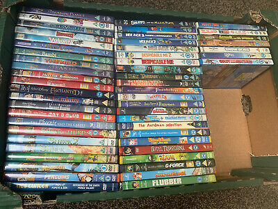 Joblot Of 53 Kids DVDs Disney Pixar Dreamworks Children's Film Bundle