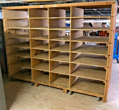 Mobile Warehouse Wood Shelving LOCAL PICK UP ONLY