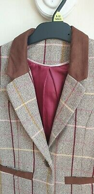 Tu 7-8 Yrs smart & stylish Tailored Jacket, faux suede trim and back pleats