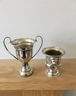 2* Vintage Silver Plated VINERS Classical Urn & EPNS Miniature trophy job lot