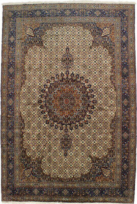 One of a Kind Vintage Signed Mood 8'3X12'5 Hand-Knotted Area Rug Oriental Carpet