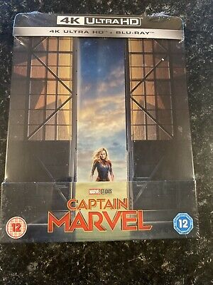 captain marvel 4k steelbook UHD And Blu Ray New And Sealed