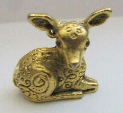 Vintage LITTLE FAWN PERFUME SOLID Pendant by Max Factor