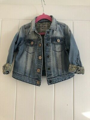 Next Girls Denim Jacket Age 2-3 Years Excellent Condition