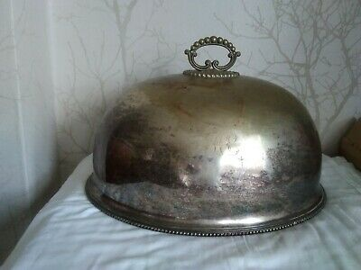 Vintage/Antique? Large Silver Plated? Meat Cloche/Dome