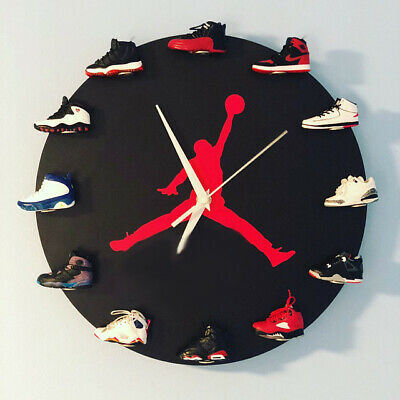 "New Handcrafted 16"" 3D Jordan 1-12 Sneakers clock OFF white nike supreme yeezy"