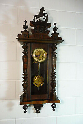 Antique Wall Clock Antique German Regulator Wall Clock Vintage
