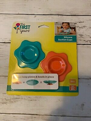 The First Years Silicone Toddler Baby Plates Suction Cups