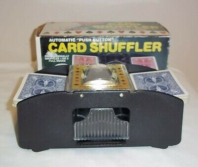 Automatic 1 to 2 Deck Card Shuffler Battey Operated