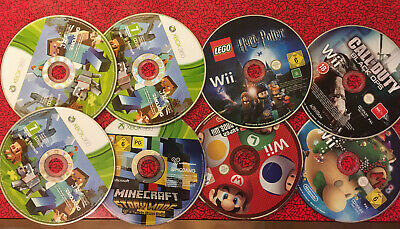 Bundle Game Disc Only Spare & Repairs: 4 Minecraft, 2 Mario Joblot Xbox 360 Wii