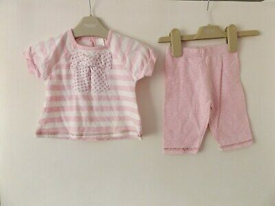 Next girls baby summer outfit / set T-shirt and shorts aged up to 3 Months