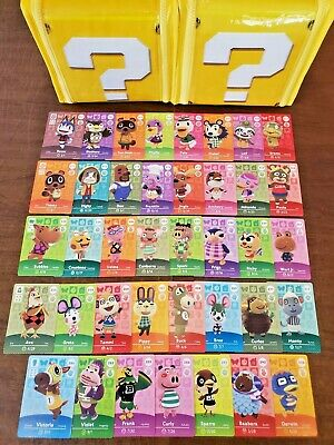 Animal Crossing Amiibo Cards Series 3 - 38 card lot - Never scanned - US Version