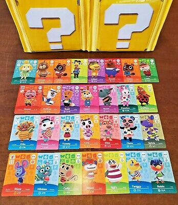 Animal Crossing Amiibo Cards Series 4 - 29 card lot - Never scanned - US Version