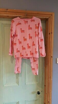 Under The Stairs by Next Girls Age 12 Height 152cm Pink Patterned Pyjama Set