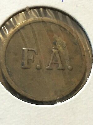 Token Coin, F.A. Good For 5 Cents In Trade Token, Old Coin Vintage T3