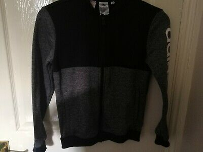 Brand new Adidas age 11-12 yrs girls tracksuit top black and white