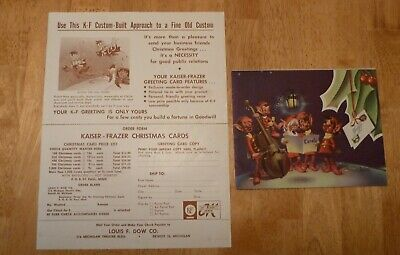 1953 Kaiser Frazer Order Form with Sample Christmas Card,Promotional Activities