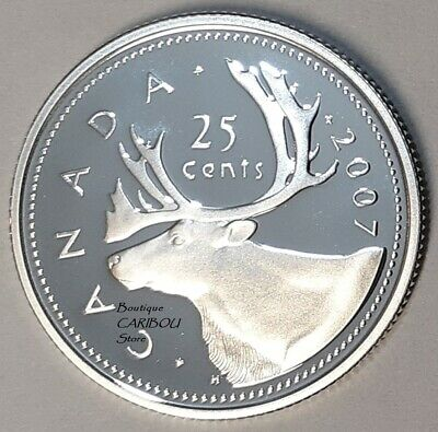 2007 Canada Silver Proof 25 Cents