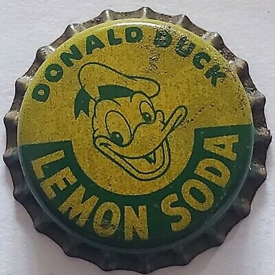 Donald Duck Lemon Cork Lined Bottle Cap; Cork Crown; Disney; Unused