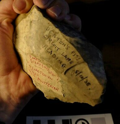 Lower Acheulean Palaeolithic Chopper / Hand Axe - found Berkshire, UK in 1938