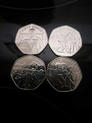 Isle of Man 2020 75th Anniversary of VE Day - VICTORY - 50p's 4 available