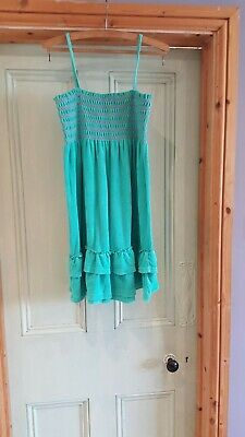 Marks & Spencer Girls Age 14 Green Sleeveless Summer Dress