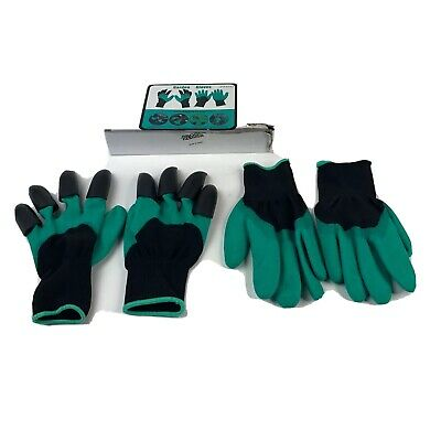 Heavy Duty Garden Farming Gloves Washable Both Hand Fingertips ABS Claws