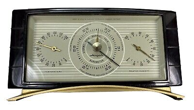 Vintage Art Deco Airguide  Barometer Thermometer Weather Station