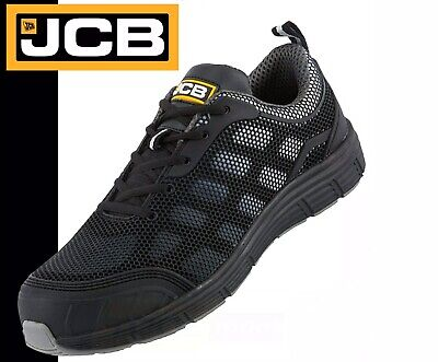 JCB Cagelow Safety Work Trainer Shoes Black/Grey PPE (UK Size 9)
