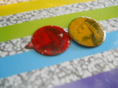 Tin Tobacco Tags Indian Plug Tics And Two Color Variations