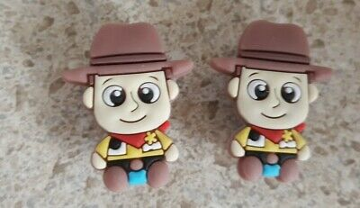 Lot of 2 Disney Woody charms for Crocs clog shoes Craft, Scrapbook or cake decor