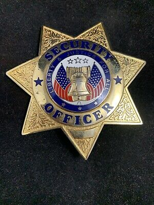 Security Officer 7-Point Star Badge