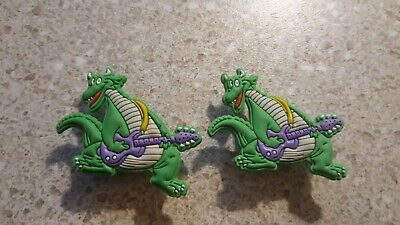 Lot of 2 Dragon charms for Crocs shoes. Craft,  Scrapbook or cake decorating
