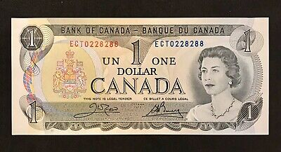 Repeater 1973 Bank Of Canada UNC Banknotes 1 Dollar Paper Money Scarce Bill