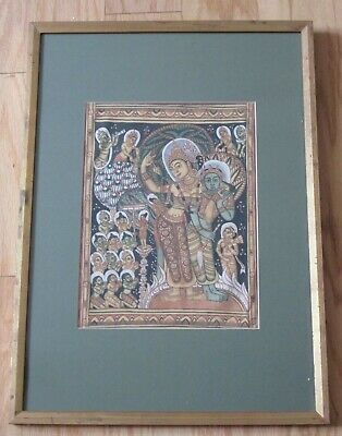 Antique 19th - 20th Century NEPAL Nepalese TIBET Asian painting DEITY Buddha