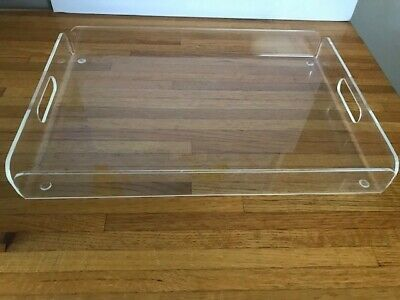 Clear Acrylic Lucite Serving Tray