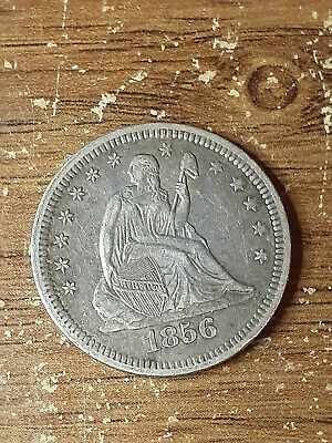 1856 Seated Quarter - HIGH GRADE - drapery at elbow  - PRICED TO SELL