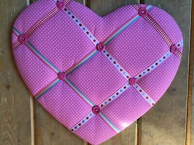 Lovely pink heart pinboard shabby chic for little girls bedroom