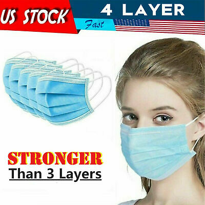 4 Layer Disposable Face Mask Mouth Cover Nose Protector Protection Masks SAVE$$$
