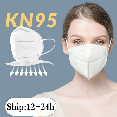 5-Layer KN95 Disposable Respirator Face Mask Protective Earloop Mouth Cover