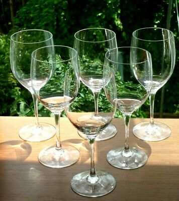 """Set x6 Fine Plain Riedel Crystal Wine Glasses.6 3/8"""" Tall.200ml.Etched Marks"""