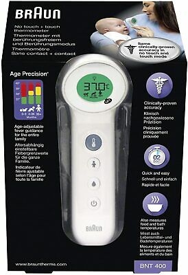 WEDNESDAY DELIVERY  Braun No Touch Thermometer Age Precision Baby Adult BNT400