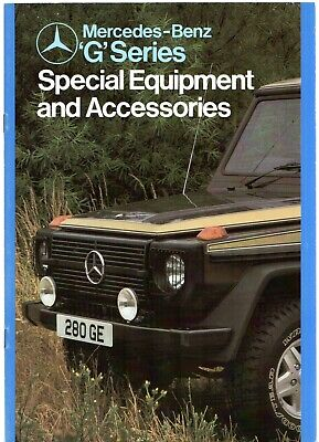 Mercedes-Benz G-Wagen Accessories Mid 1980s UK Market Sales Brochure