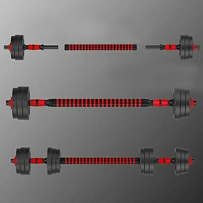Adjustable Dumbbell Weight Set Barbell Lifting 2 Pcs Bars 1 Pcs 15.74in Connecti