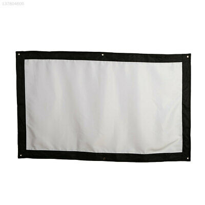 Foldable Projection Screen Projector Curtain Office School Bar Lobbies Indoor