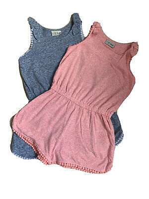 Girls Next Jumpsuit Playsuit All In One Shorts x 2 Age 3-4