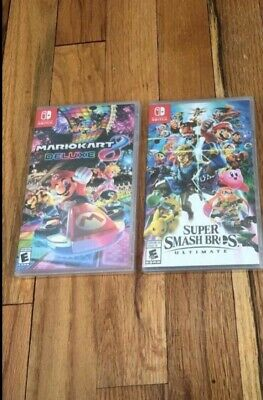Super Smash Bros. Ultimate and Mario kart deluxe 8 For Nintendo Switch BRAND NEW