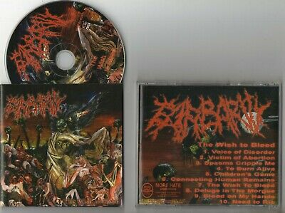 BARBARITY / The Wish to Bleed - '03, RUSSIAN IMPORT ~[DEATH METAL]