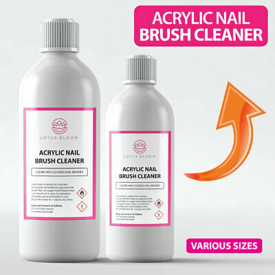 Acrylic Nail Brush Cleaner POWERFUL Liquid Cleaner for Acrylic Gel Nail Brushes